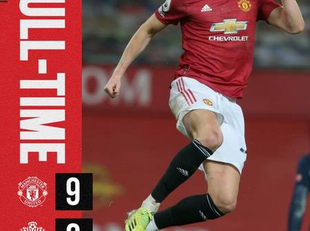 Manchester United scores Record Nine to maintain 2nd position.