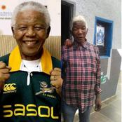 Man Who Looked Exactly Like Late Nelson Mandela Allegedly Spotted In Anambra, Sparks Mixed Reactions