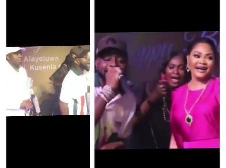 Moment Davido Shut down Oba Saheed's Birthday Celebration As He Performs On stage