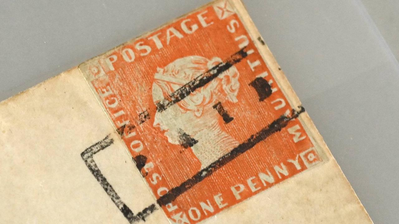 Rote Mauritius-Briefmarke wird für mehrere Millionen Euro versteigert