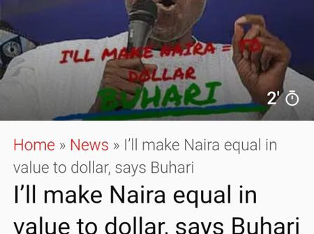 If Presidency Did Not Promise To Make #1 Equivalent To $1, This News Paper Deceived All Nigerians.