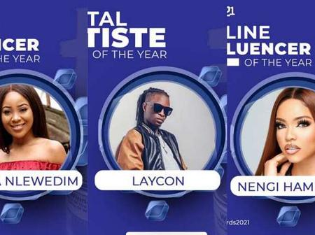 Bbnaija Stars Laycon, Erica And Nengi Have Been Nominated For GAGE Awards 2021.