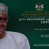 Reactions as President Muhammadu Buhari Shares Picture His Covid-19 Vaccination Event Card