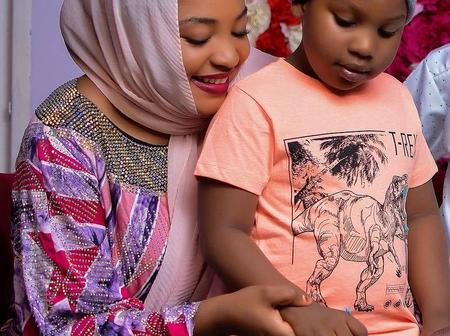 Photos Of Hausa Actress, Aisha Tsamiya And Her Daughter That Caused Many Reactions Online [PHOTOS]