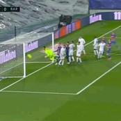 Messi Is An Absolute Genius, See How He Tried To Score From A Corner Kick Against Real Madrid.