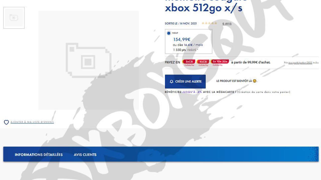 Des cartes d'extension 500 Go en approche pour Xbox Series X|S