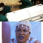 Sad: See pictures of Orisabunmi's burial, as she was finally laid to rest