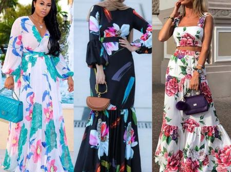 Are You Tired Of Ankara Styles, Checkout These Flowery Chiffon Gown For Special Events.