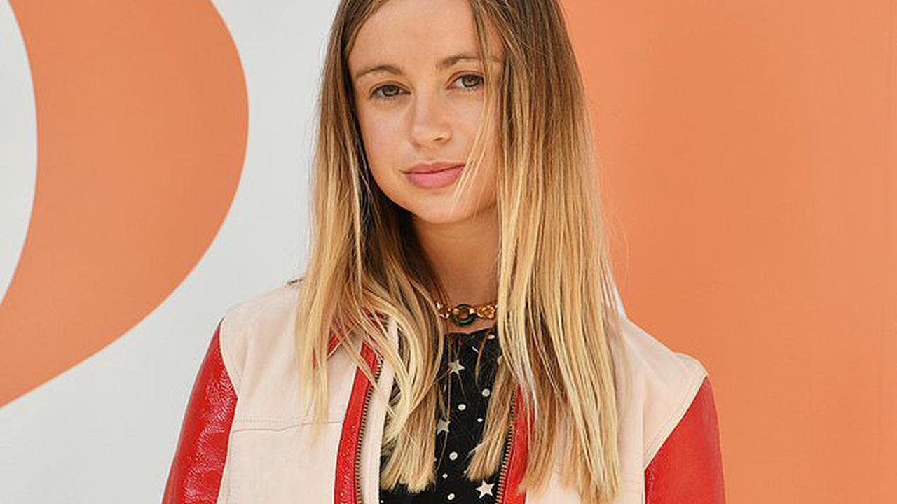 Her royal coolness! Lady Amelia Windsor, 25, looks trendy in black star print dress and leather jacket as she joins Sabine Getty at V&A exhibition