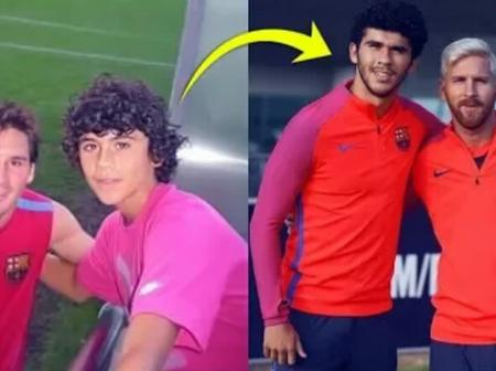 Check out footballers who met superstars as children before becoming superstars also(Photos)