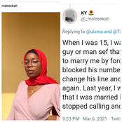 Lady Had To Lie That She Was Married To Stop A Man Who Forcefully Wanted To Marry Her.