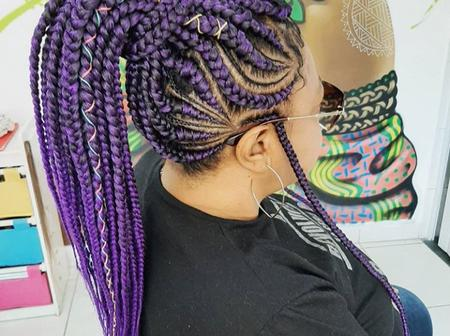 Ladies Check Out These Latest Simple And Glamorous Ghana Braids Hairstyles