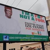 This Controversial Campaign Billboard Spotted In Edo is Raising Eye-Brows {Pictured}