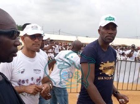 Michel Gbagbo transmet le message de son père Laurent Gbagbo à la population de Yopougon