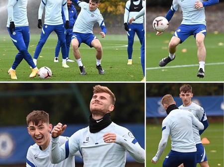 CHELSEA: Hakim Ziyech, Thiago Silva leads Chelsea Players as they train at Cobham Training complex
