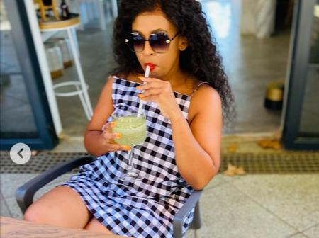 Sfiso Ncwane's baby mama currently left fans speechless with her dazzling look.