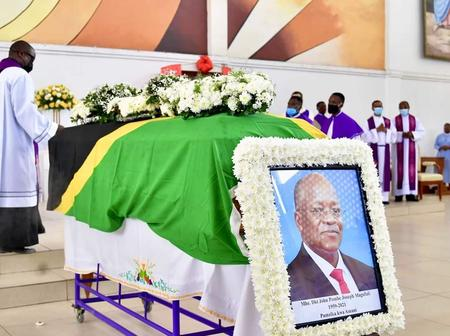 Sad Mood Surrounds Late Magufuli's Home in Chato, Tanzania, as Burial Ceremony Gets Underway(Video)