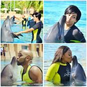 See Photos Of Nigerian Celebrities Who Played With Dolphins In Dubai