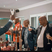 Champaign popping while Ringo serenades the birthday celebration of Julius Malema
