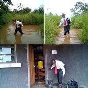 """When You Thought The Rain Will Stop Your Maths Teacher From Coming To School""- Man Shares Joke"