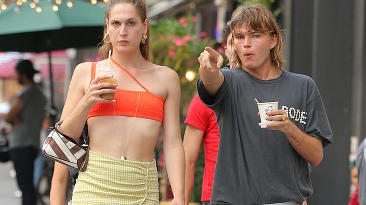 From the catwalk to the sidewalk! Supermodel Jordan Barrett steps out in New York City with a glamazon pal after returning to the Big Apple