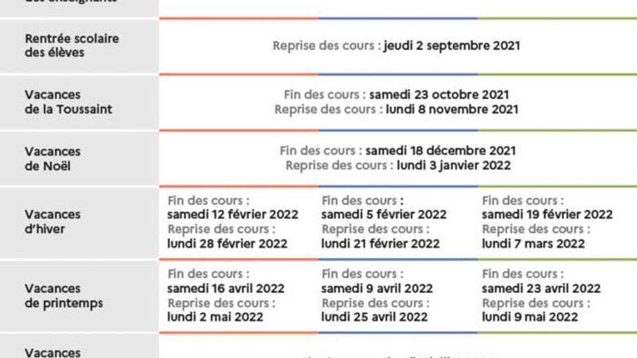Calendrier Mcdo Avril 2022 France: calendrier scolaire 2021 2022 avec les dates des vacances