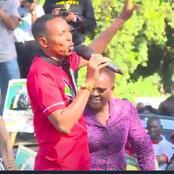 Kenyans Praise Tangatanga's Jicho Pevu For His Rare Show in Murang'a County -VIDEO