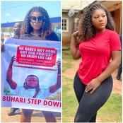 #EndSARS: Checkout what was written on Destiny Etiko's placard as she joins the ongoing Protest.