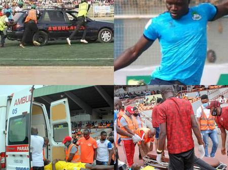 Nigerian Player Escaped Death By Whiskers During A Professional Encounter; Check What Saved Him (Photo)