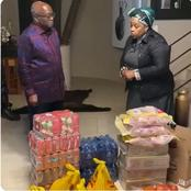 Zuma's Ally Throws Shade At President Ramaphosa While Delivering Groceries In Nkandla