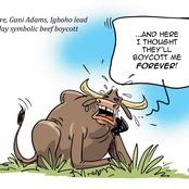 Mixed Reactions As Mustapha Bulama Mocks Sunday Igboho, Gani Adams In New Cartoon