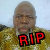 The Nollywood Actor that died last week, See what a lady said about Nollywood's silence on his death