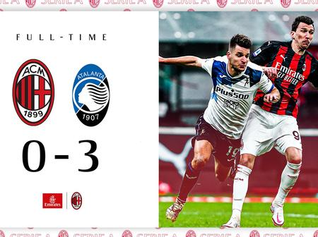 After Atlanta Defeated AC Milan By 0:3, See How The Table Looks Like.