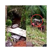 """""""Is God Not Merciful?"""" — A Tragic Accident In Ondo State Leaves All Passengers Unscathed (Photos)"""