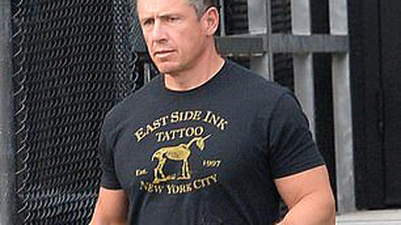 CNN anchor Chris Cuomo arrives at the New York heliport - seen for the first time off camera - as under-fire brother Andrew, 63, clings on despite growing Democrat voices calling for his resignation
