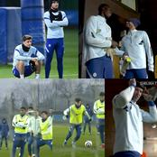 Happy looking Chelsea squad trained ahead of Everton game this weekend. See photos