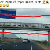 Pictures of What people thought was Kaizer Chiefs Going in The OR Tambo International AirPort