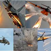 Nigerian Air Force : See how they dropped bombs on suspected Boko Haram targets (Watch video)