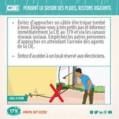 Pluie à Abidjan : La CIE invite ses abonnés à faire attention aux câbles électriques posés au sol