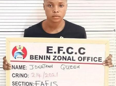 A Beautiful Yahoo girl has been arrested in Delta State, view some reactions