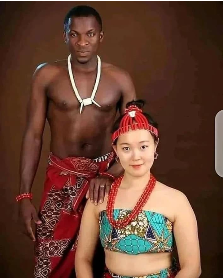 Reactions as lovely pre-wedding pictures of a Nigerian man and his Korean bride surfaces Online 8