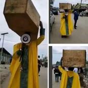 Nigéria : un prophète se balade avec un cercueil sur la tête, voici ce qu'il dit