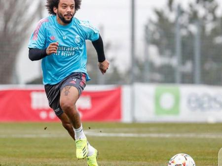 Dani Alves and Casemiro react after Real Madrid star Marcelo gave an update on his injury (Photo)