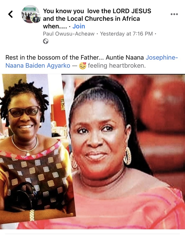23a1e0a90f3948f18f751810bc6a2ec9?quality=uhq&resize=720 - COVID-19: Ghanaians Pour Down Their Condolences To The Late Widow Of The Former Ayawaso West MP