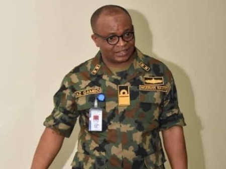 Rear Admiral Zubairu Gambo Does Not Report Straight To Buhari, See Who He Reports To