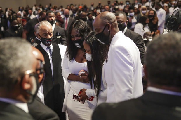 George Floyd to be laid next to his mom as his final funeral service in Houston begins (photos)