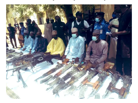 Today's Headlines: 4 Repentant Armed Bandits In Katsina State, Surrendered Their Weapons (See Photo)