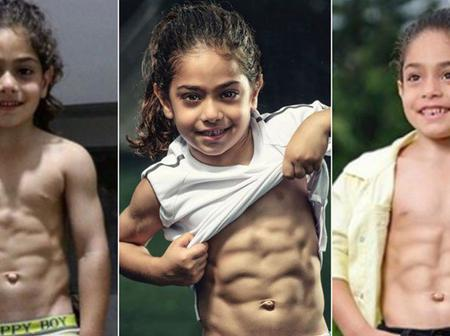 [Photos] Meet Child footballer with great skills and superman looking physique