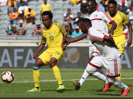 South Africa is under pressure after Sudan won against Sao Tome today