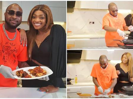 Check Out Photos of Naira Marley, Davido, and Kizz Daniel Cooking In The Kitchen